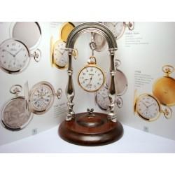 poggiaorologi con base in legno per orologi da tasca