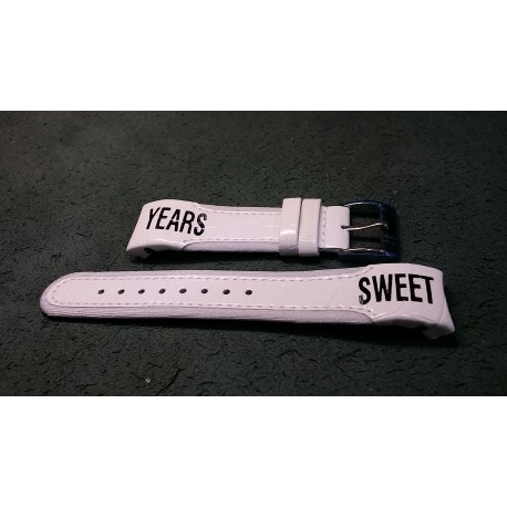 Cinturino bianco  Sweet Years in pelle -strap band Sweet Years